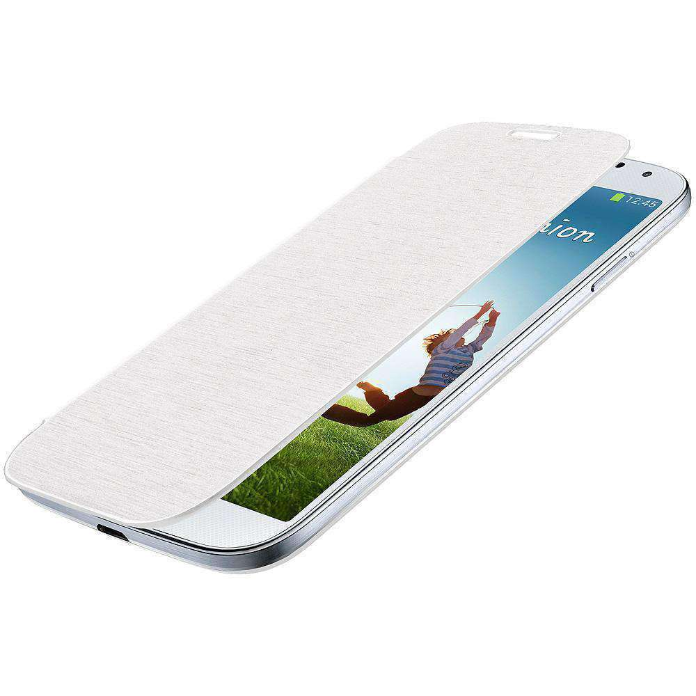 AMZER Flip Case for Samsung GALAXY S4 GT-I9500 - White - amzer