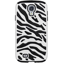 Load image into Gallery viewer, AMZER® Zebra Hybrid Case - White PC + Black Silicone for Samsung GALAXY S4 GT-I9500 - amzer