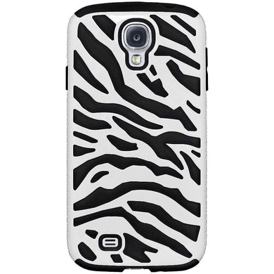 AMZER® Zebra Hybrid Case - White PC + Black Silicone for Samsung GALAXY S4 GT-I9500 - amzer