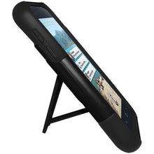 Load image into Gallery viewer, AMZER Double Layer Hybrid Kickstand Case for HTC First - Black/ Black - amzer