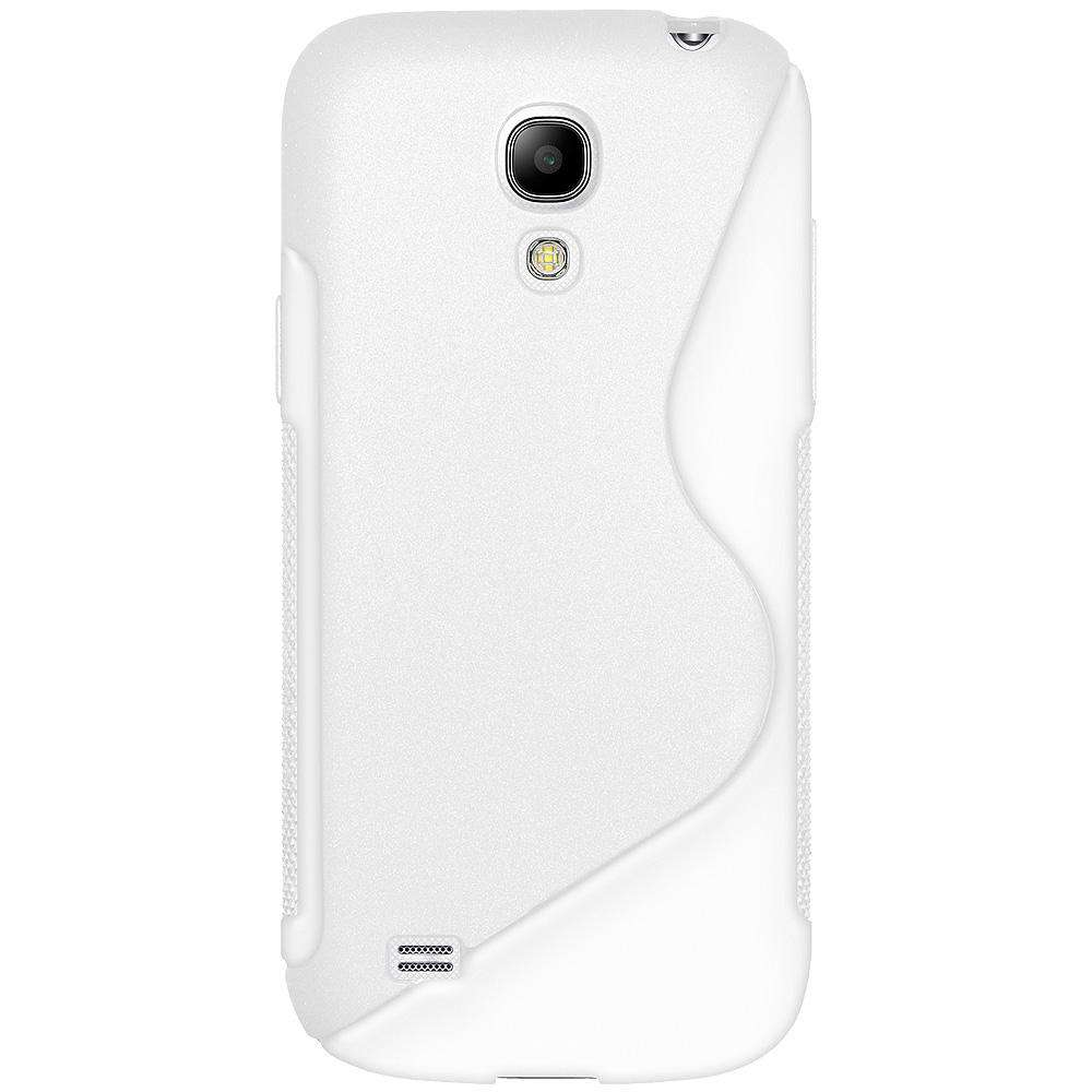 AMZER Soft TPU Hybrid Case for Samsung Galaxy S4 Mini Duos - White - amzer