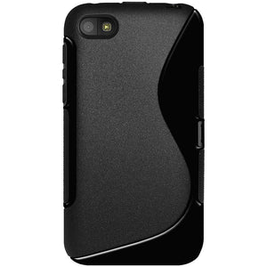 AMZER Soft TPU Hybrid Case for BlackBerry Z5 - Solid Black - amzer