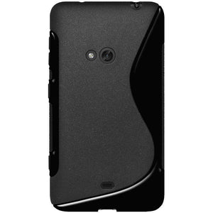 AMZER Soft TPU Hybrid Case for Nokia Lumia 625 - Solid Black - amzer