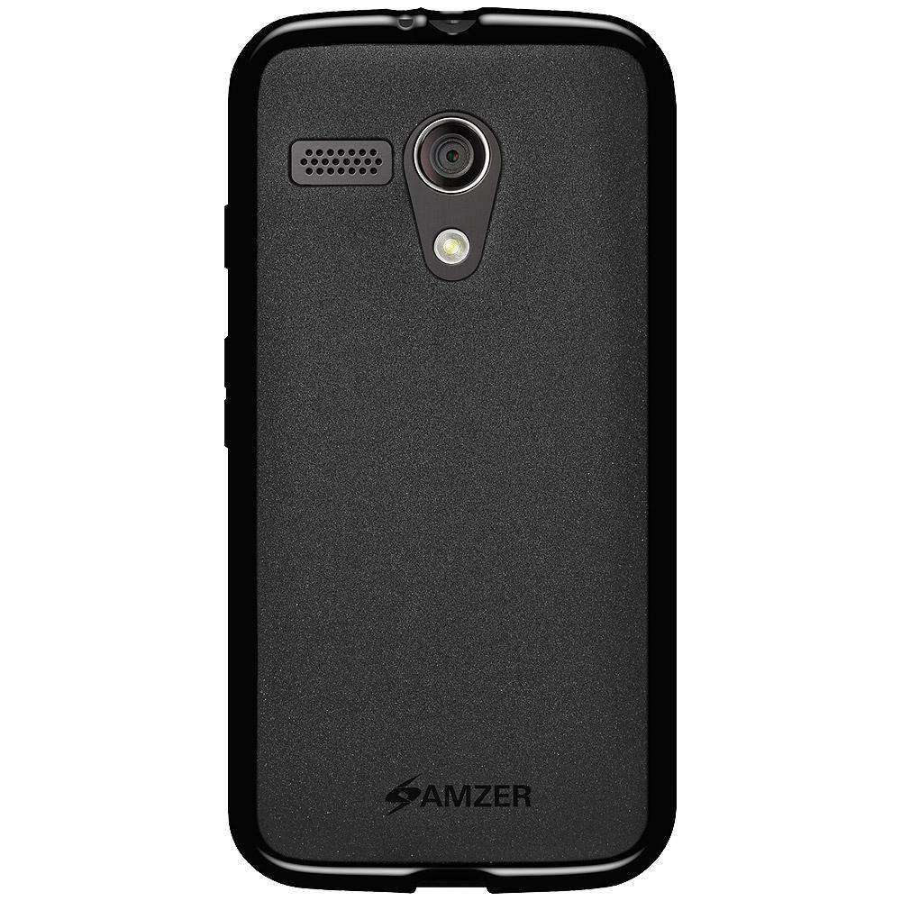 AMZER Pudding Soft TPU Skin Case for Motorola Moto G XT1032 - Black