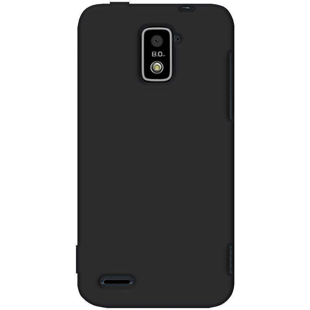 AMZER Silicone Skin Jelly Case for ZTE Warp 4G N9510 - Black - amzer