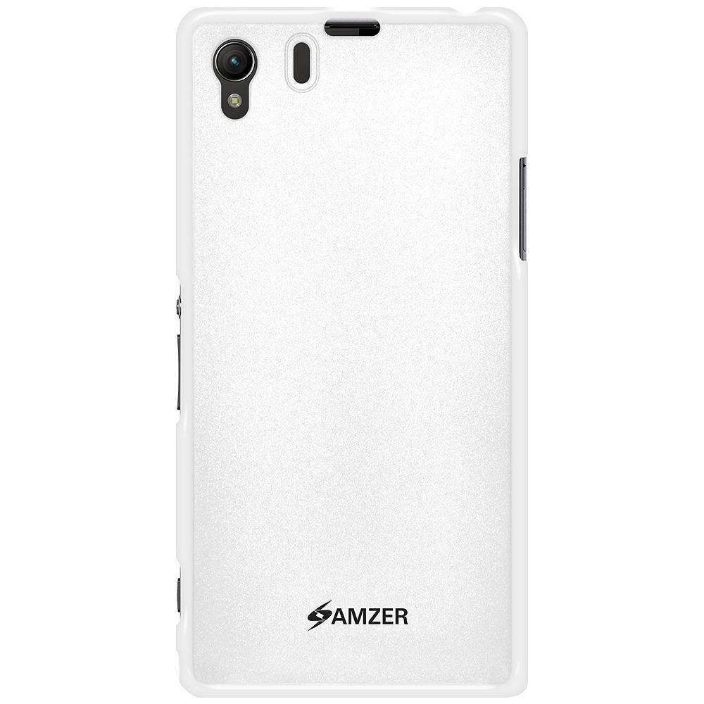 AMZER Pudding Soft TPU Skin Case for Sony Xperia Z1 L39h - White - amzer