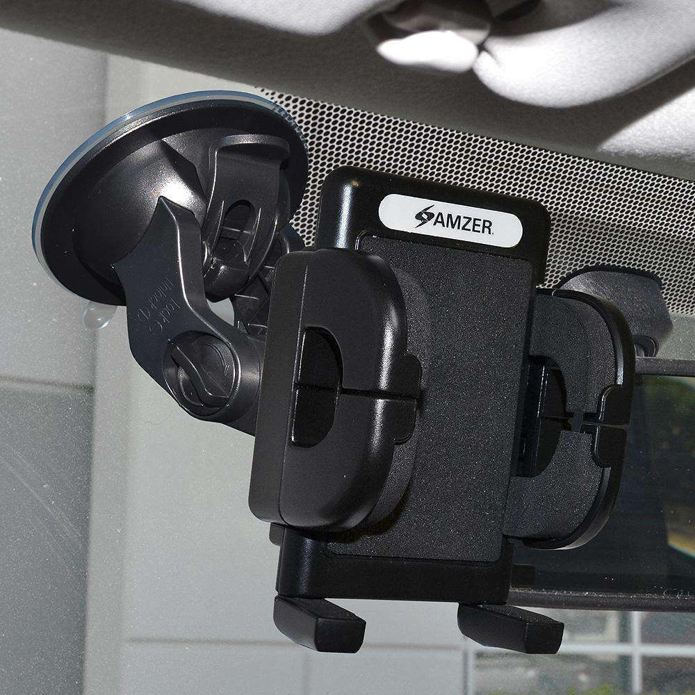 Amzer Universal Windshield, Dash or Console Suction Cup Mount for Smartphone - amzer
