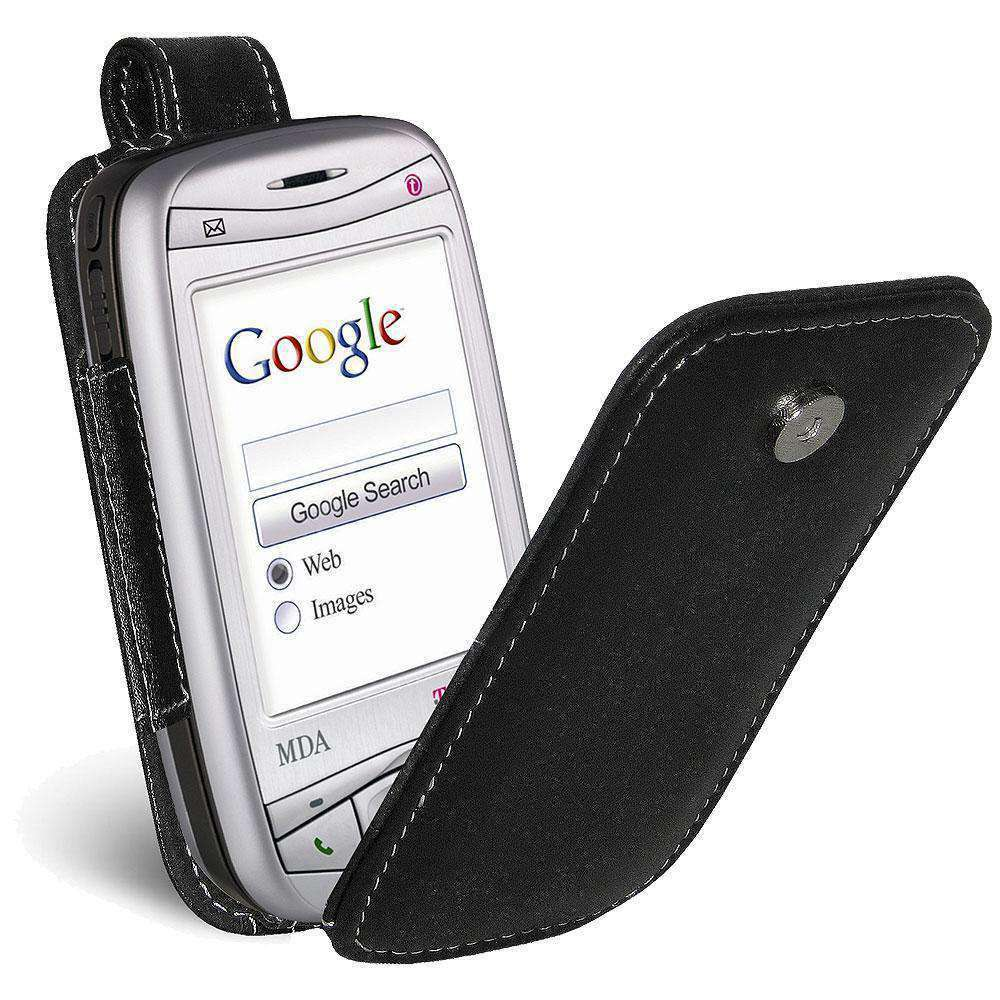 AMZER Flip Leather Case for i-Mate JAM - Black