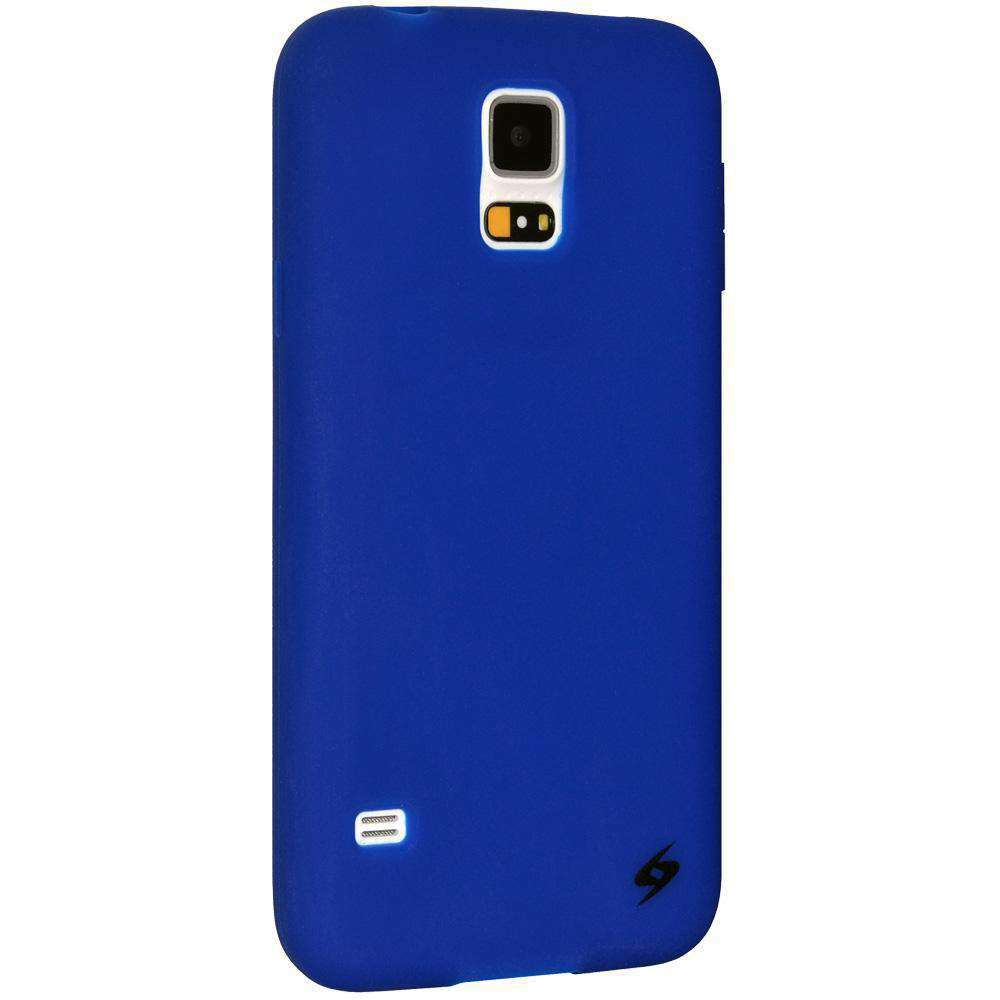 AMZER Silicone Skin Jelly Case for Samsung Galaxy S5 Neo SM-G903F - Blue - amzer