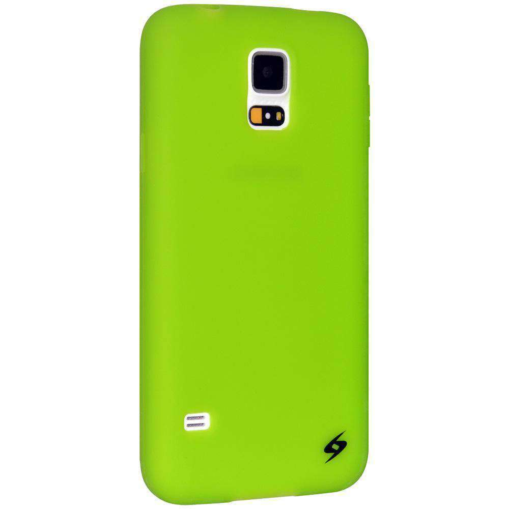 AMZER Silicone Skin Jelly Case for Samsung Galaxy S5 Neo SM-G903F - Green - amzer