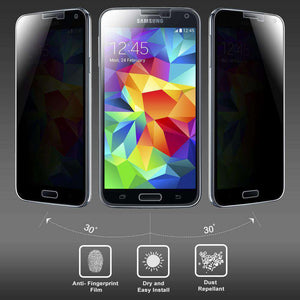 AMZER Kristal Privacy Tempered Glass HD Screen Protector for Samsung Galaxy S5 Neo