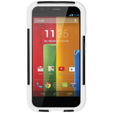 Load image into Gallery viewer, AMZER Double Layer Hybrid Kickstand Case for Motorola Moto G - Black/White - amzer