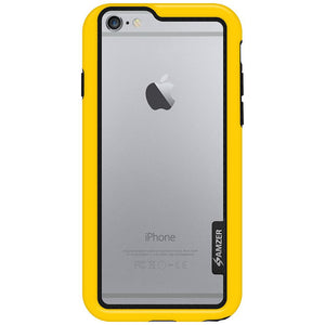 AMZER Border Bumper Hybrid Case for iPhone 6 Plus - Black - amzer