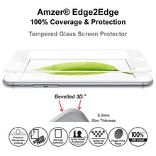 Load image into Gallery viewer, Amzer® Kristal™ Tempered Glass HD Edge2Edge Screen Protector - White for iPhone 6/ 6s/ iPhone 7