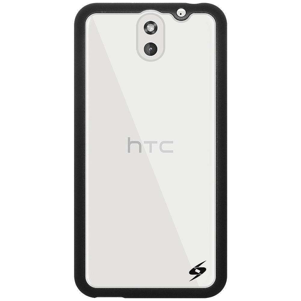 AMZER SlimGrip Bumper Hybrid Case for HTC Desire 610 - Black - amzer