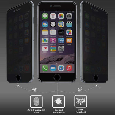 AMZER Kristal Privacy HD Edge2Edge Tempered Glass for iPhone 6 - Black - amzer