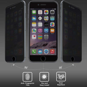 AMZER Kristal Privacy HD Edge2Edge Tempered Glass for iPhone 6 Plus - Black