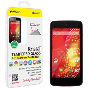 AMZER Kristal Tempered Glass HD Screen Protector for Karbonn Sparkle V