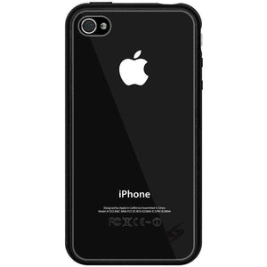 AMZER SlimGrip Bumper Hybrid Case for iPhone 4S - Black - amzer