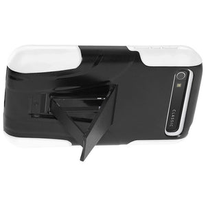 AMZER Double Layer Hybrid Kickstand Case for BlackBerry Classic - Black/White - amzer