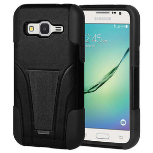 AMZER Double Layer Hybrid Kickstand Case for Samsung GALAXY Core Prime - Black