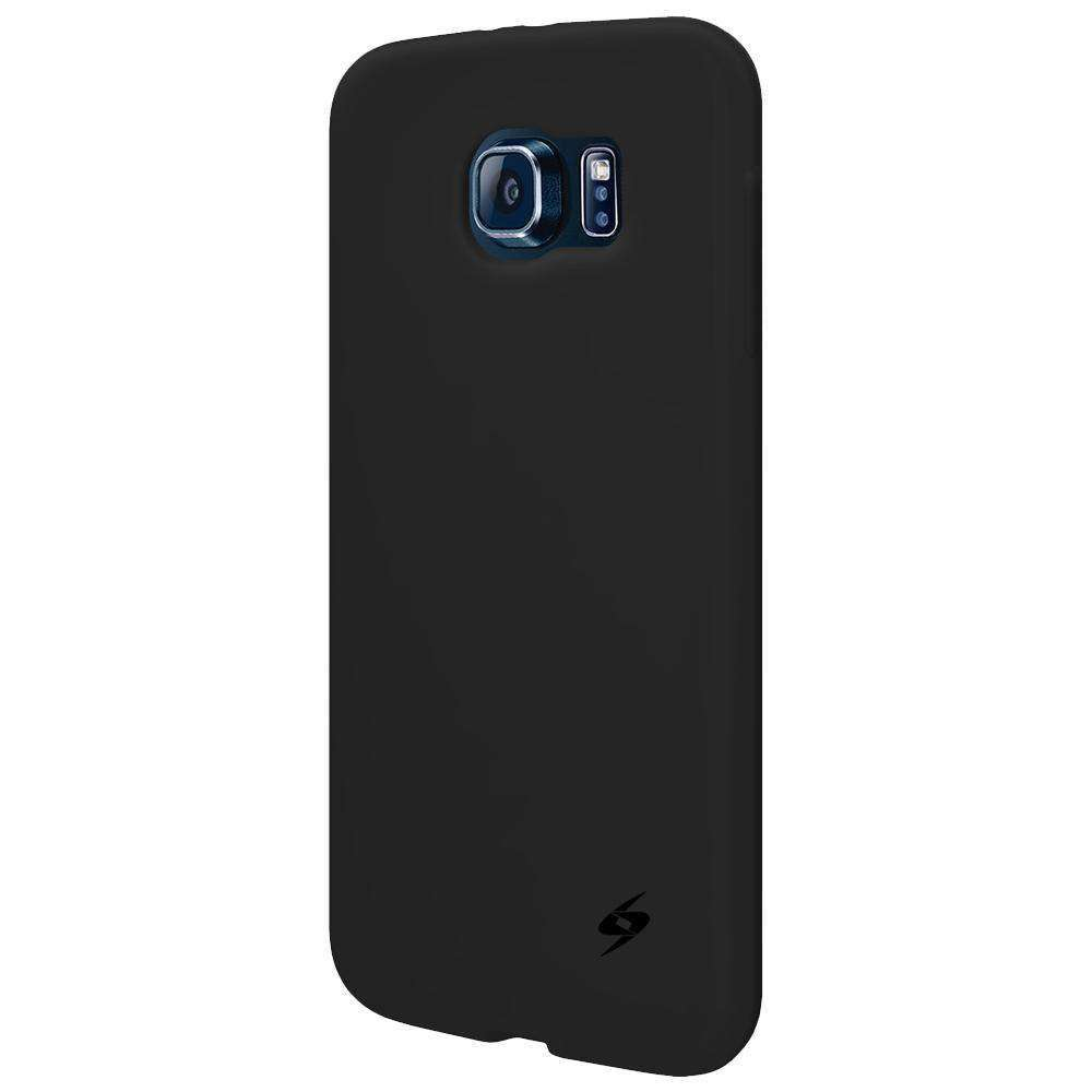 AMZER Silicone Skin Jelly Case for Samsung Galaxy S6 SM-G920F - Black - amzer