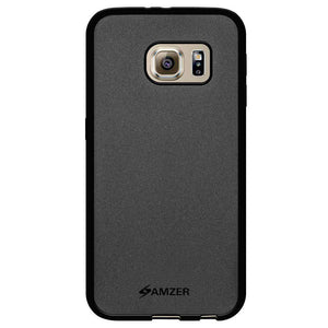 AMZER Pudding Soft TPU Skin Case for Samsung Galaxy S6 SM-G920F - Black - amzer
