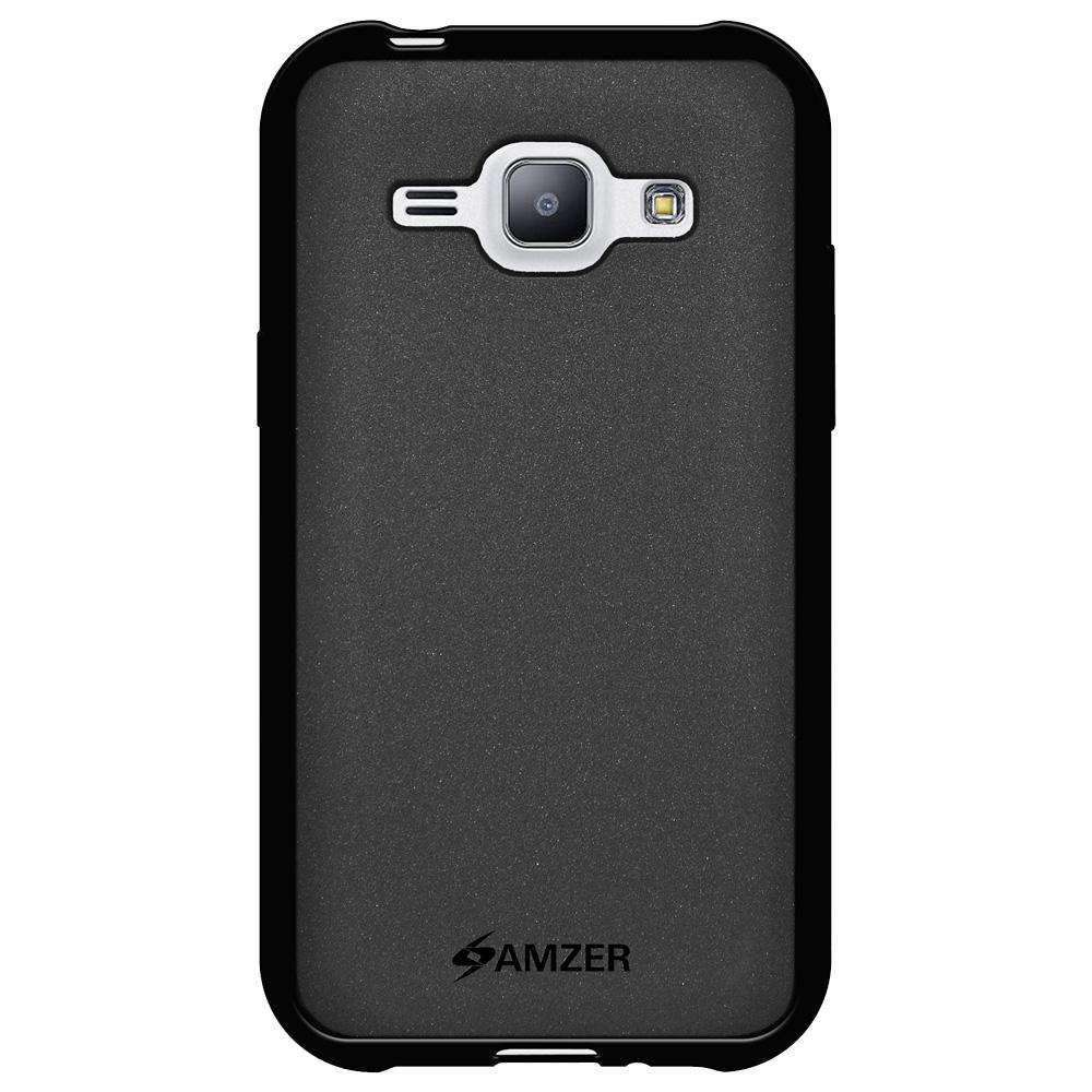 AMZER Pudding Soft TPU Skin Case for Samsung GALAXY J1 SM-J100H - Black