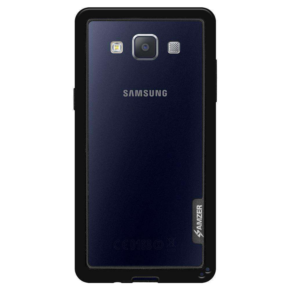 AMZER Border Bumper Hybrid Case for Samsung GALAXY A5 SM-A500F - Black - amzer