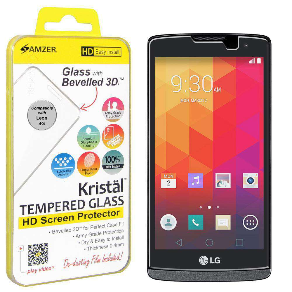 AMZER Kristal Tempered Glass HD Screen Protector for LG Destiny L21G