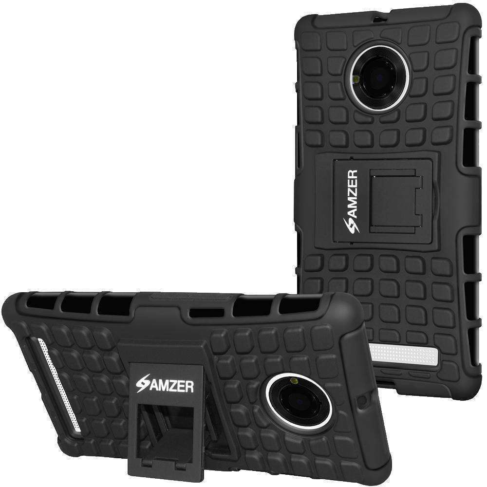 AMZER  Warrior Hybrid Case for Micromax YU Yuphoria YU5010 - Black/Black