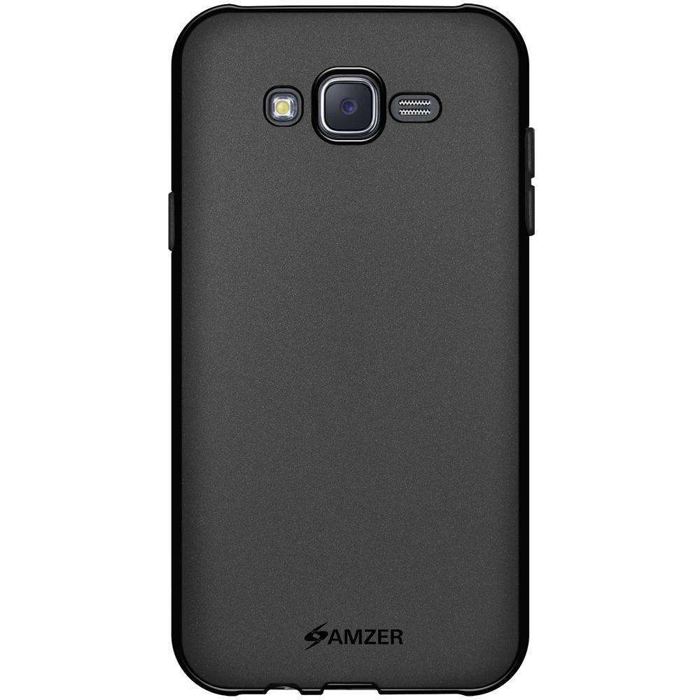 AMZER Pudding Soft TPU Skin Case for Samsung Galaxy J7 SM-J700F - Black