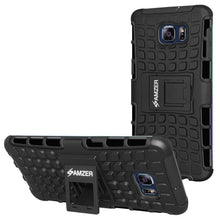 Load image into Gallery viewer, AMZER  Warrior Hybrid Case for Samsung Galaxy S6 edge Plus - Black/Black - amzer