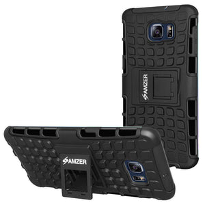 AMZER  Warrior Hybrid Case for Samsung Galaxy S6 edge Plus - Black/Black - amzer