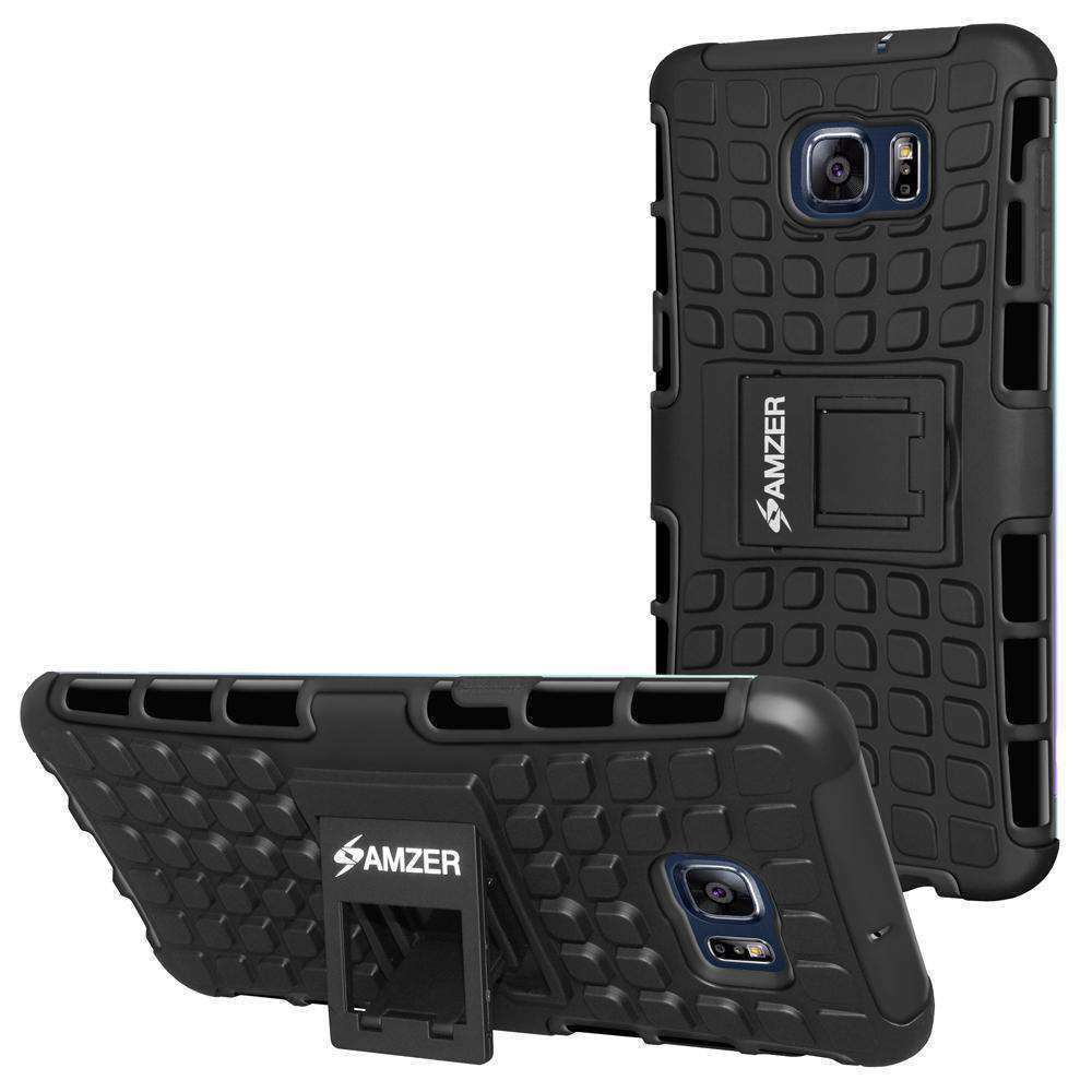 AMZER  Warrior Hybrid Case for Samsung Galaxy S6 edge Plus - Black/Black