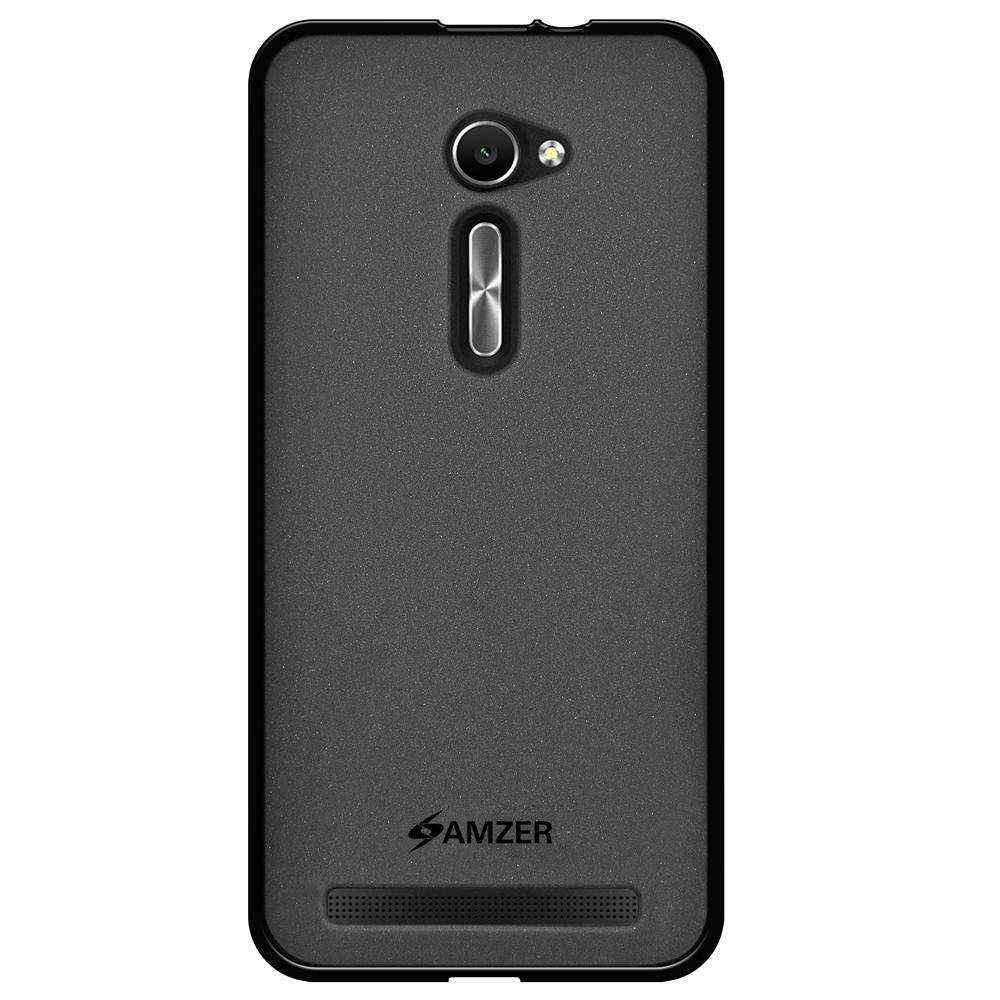 AMZER Pudding Soft TPU Skin Case for Asus Zenfone 2 ZE500CL - Black