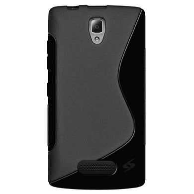 AMZER Pudding Soft TPU Skin Case for Lenovo A2010 - Black - amzer