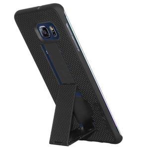 AMZER Snap On Hard Case with Kickstand for Samsung Galaxy S6 edge Plus - Black - amzer