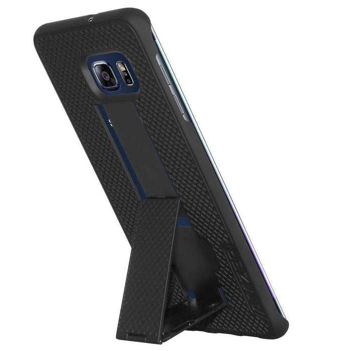AMZER Snap On Hard Case with Kickstand for Samsung Galaxy S6 edge Plus - Black