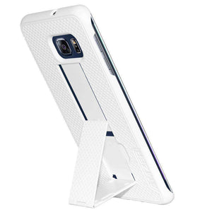 AMZER Snap On Hard Case with Kickstand for Samsung Galaxy S6 edge Plus - White - amzer