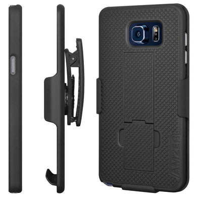 AMZER Shellster Hard Case  Belt Clip Holster for Samsung Galaxy Note 5 - Black - amzer