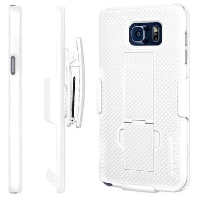 AMZER Shellster Hard Case  Belt Clip Holster for Samsung Galaxy Note 5 - White