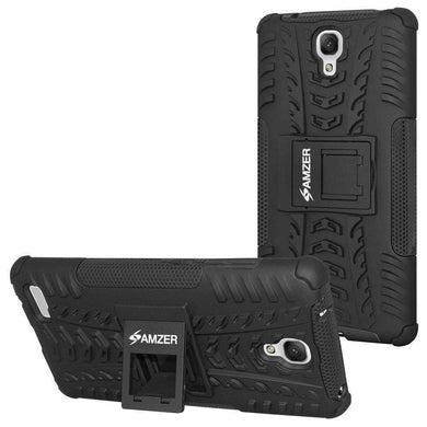 AMZER Shockproof Warrior Hybrid Case for Xiaomi Redmi Note - Black/Black - amzer