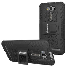 Load image into Gallery viewer, AMZER  Warrior Hybrid Case for Asus Zenfone 2 Laser ZE500KL - Black/Black - amzer