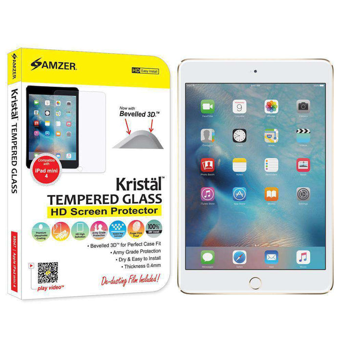 AMZER Kristal Tempered Glass HD Screen Protector for Apple iPad mini 4 - amzer