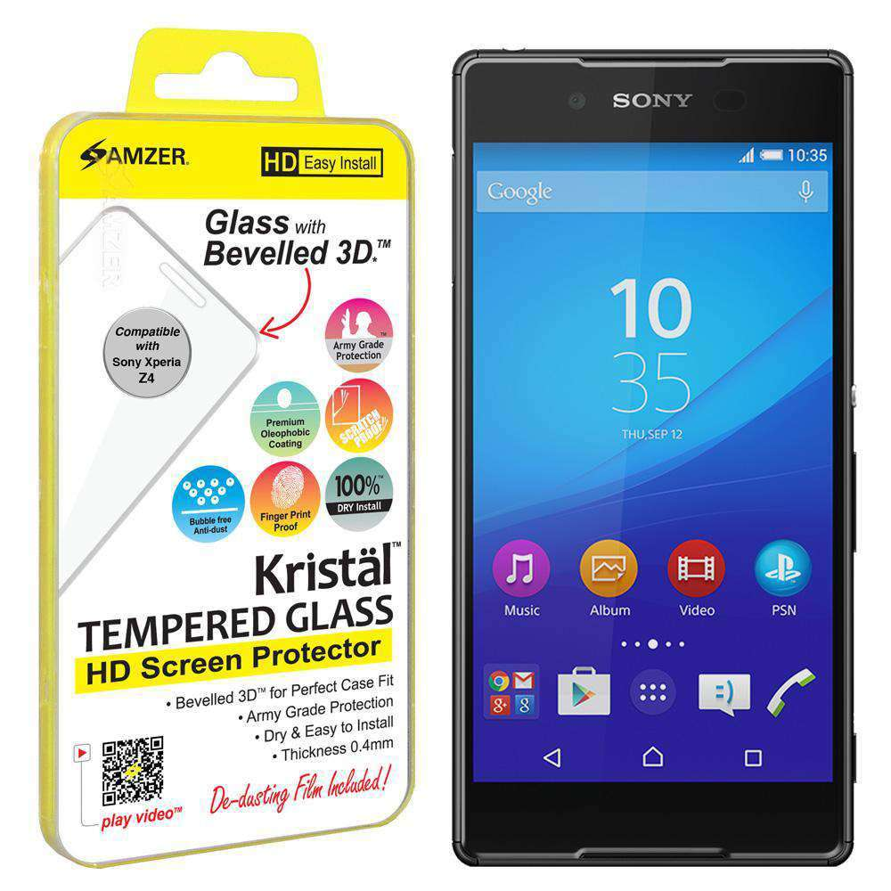 AMZER Kristal Tempered Glass HD Screen Protector for Sony Xperia Z3 PLUS