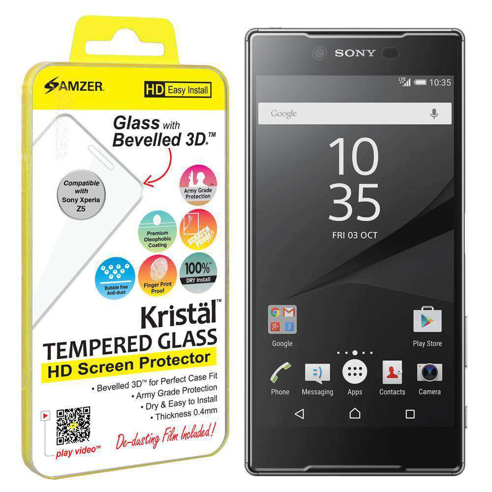 AMZER Kristal Tempered Glass HD Screen Protector for Sony Xperia Z5