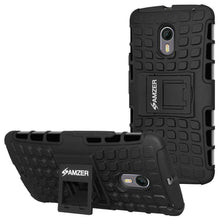 Load image into Gallery viewer, AMZER  Warrior Hybrid Case for Motorola Moto X Pure Edition - Black/Black - amzer