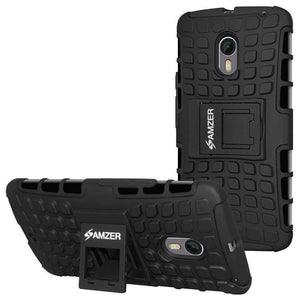 AMZER  Warrior Hybrid Case for Motorola Moto X Pure Edition - Black/Black - amzer