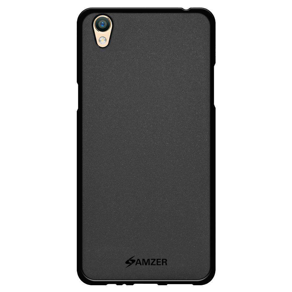 AMZER Pudding Soft TPU Skin Case for Oppo F1 Plus - Black - amzer